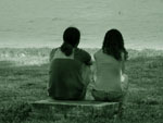 Relationship problems forum - man and woman facing the sea